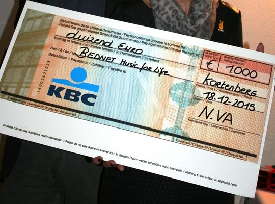 N-VA Kortenberg schenkt maar liefst 1000 euro aan Bednet!